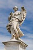天使雕象,罗马,意大利 库存照片