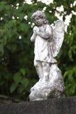 天使雕象 免版税库存图片