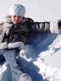 天使雪 免版税库存照片