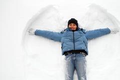 天使雪 库存照片