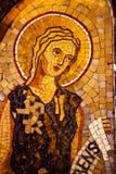天使马赛克修道院蒙特塞拉特岛卡塔龙尼亚西班牙 免版税库存照片