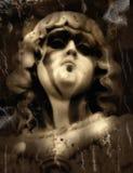 天使黑暗 库存照片