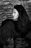 天使黑色 库存照片