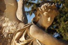 天使死亡(Lychakivs公墓,利沃夫州,乌克兰) 免版税库存照片