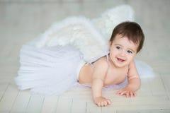 天使婴孩一点 免版税图库摄影