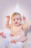 天使婴孩圣诞节 免版税库存照片