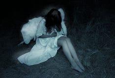 天使黑暗 库存图片