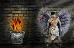 天使从链子断裂自由概念解开自己 库存照片