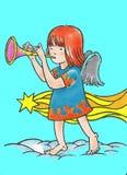 天使 向量例证