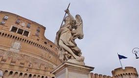 天使Castel Saint'Angelo 免版税库存图片