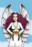 天使n岩石卷 库存照片