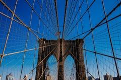 天光的,纽约美国布鲁克林大桥 库存照片