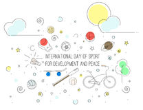 天发展的体育 免版税图库摄影