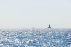 晴天在亚得里亚海 免版税图库摄影