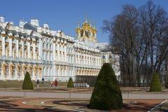 天在凯瑟琳宫殿的4月 Tsarskoye Selo 库存图片