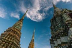 天在曼谷,泰国, Wat Po寺庙 库存图片
