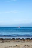 晴天在英国海边 图库摄影