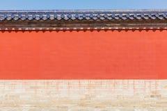 天坛红色墙壁美好的场面  库存照片