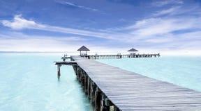 天堂。假期和旅游业概念 免版税库存图片