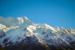 天堂地方在新西兰/库克山国家公园 免版税库存照片