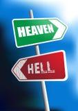 天堂地狱 库存例证