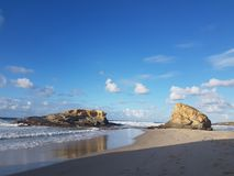 天堂岩石海滩 图库摄影