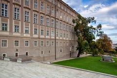 天堂庭院在布拉格在捷克 库存图片