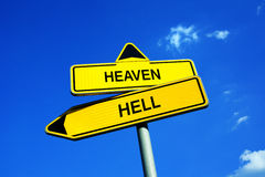 天堂或地狱 库存照片