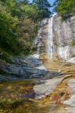 天堂村庄全国地质公园夏天风景湖北的 库存图片