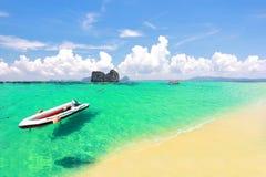 天堂海岛在董里府,泰国 免版税库存照片