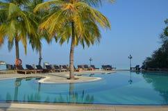 天堂海岛池-马尔代夫 免版税库存照片
