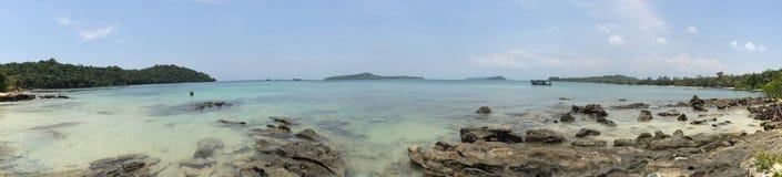 天堂海岛风景酸值Ta基辅,西哈努克,柬埔寨 免版税库存照片