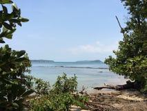 天堂海岛风景酸值Ta基辅,西哈努克,柬埔寨 免版税库存图片