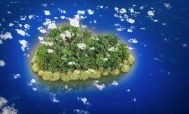 天堂海岛 库存照片