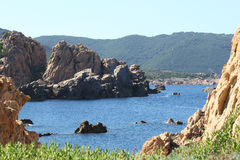 天堂海岸,撒丁岛 库存图片
