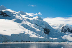 天堂海湾在南极洲 图库摄影