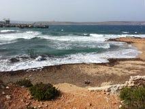 天堂海湾,马耳他 免版税库存照片