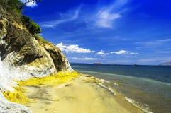 天堂海滩。 免版税图库摄影