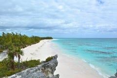天堂海滩巴哈马 免版税库存照片