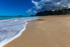 天堂海滩在夏威夷 免版税库存照片