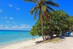 天堂海滩在Lifou海岛,新喀里多尼亚,南太平洋 免版税库存照片