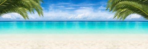 天堂海滩背景 免版税库存照片