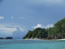 天堂热带海岛海滩, Coron,菲律宾 图库摄影