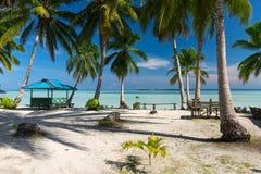 天堂离开的热带海滩在印度尼西亚 库存图片