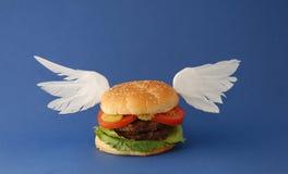 天堂般汉堡包 库存图片