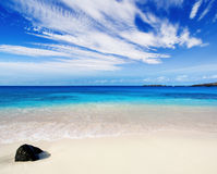 天堂般海滩 免版税库存照片