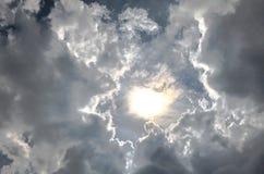 天堂般的云彩 免版税库存照片