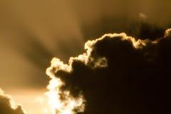 天堂般的云彩 免版税库存图片