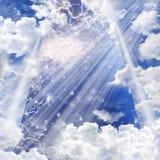 天堂般的光 库存例证