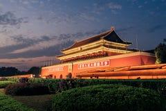 天堂般的和平天安门门在北京,中国 图库摄影